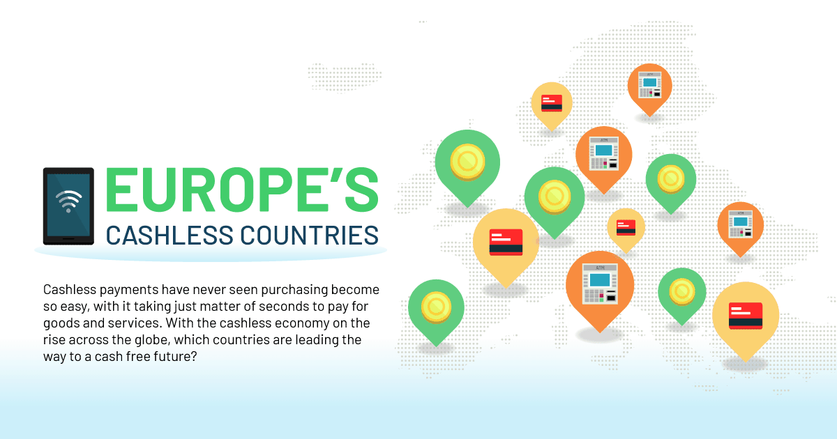 Top 10 Cashless Countries in Europe In 2020 Header