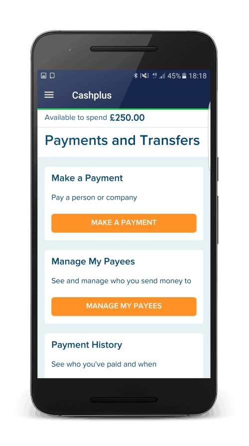 Cashplus payments