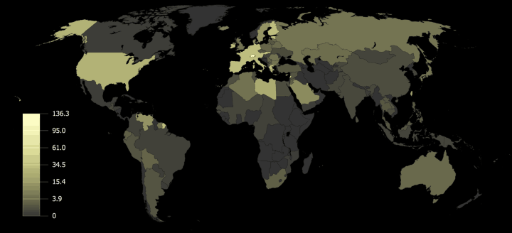 World Gold Reserves In Grams Per Person
