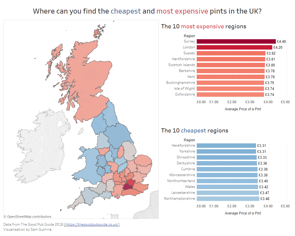 The Cheapest & Most Expensive Pints In The UK: Prices By Region