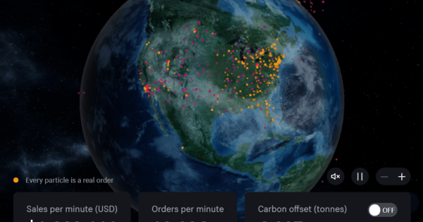 Real-Time Map Of Shopify Transactions On Black Friday 2020